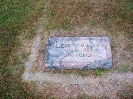 LEWIS, ELIZABETH M. - Brown County, Nebraska | ELIZABETH M. LEWIS - Nebraska Gravestone Photos