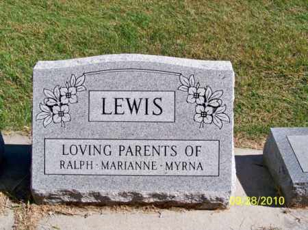 LEWIS, FAMILY - Brown County, Nebraska   FAMILY LEWIS - Nebraska Gravestone Photos