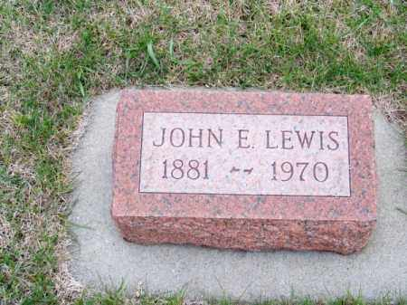LEWIS, JOHN E. - Brown County, Nebraska | JOHN E. LEWIS - Nebraska Gravestone Photos