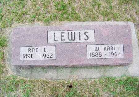 LEWIS, W. KARL - Brown County, Nebraska | W. KARL LEWIS - Nebraska Gravestone Photos