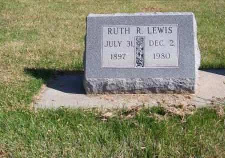 LEWIS, RUTH R. - Brown County, Nebraska | RUTH R. LEWIS - Nebraska Gravestone Photos