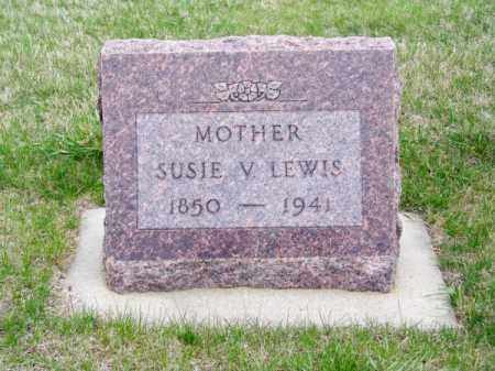 LEWIS, SUSIE V. - Brown County, Nebraska | SUSIE V. LEWIS - Nebraska Gravestone Photos