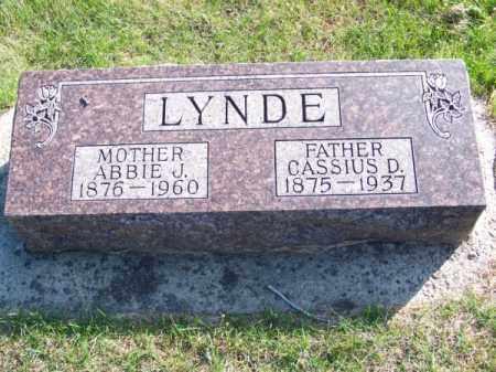LYNDE, ABBIE J. - Brown County, Nebraska   ABBIE J. LYNDE - Nebraska Gravestone Photos