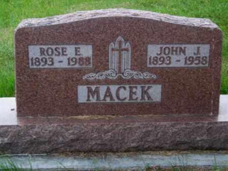 MACEK, ROSE E. - Brown County, Nebraska   ROSE E. MACEK - Nebraska Gravestone Photos