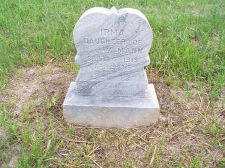 MANN, IRMA - Brown County, Nebraska | IRMA MANN - Nebraska Gravestone Photos
