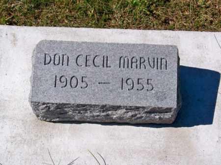 MARVIN, DON CECIL - Brown County, Nebraska | DON CECIL MARVIN - Nebraska Gravestone Photos