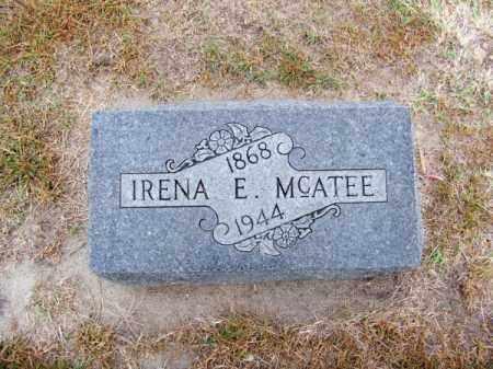MC ATEE, IRENA E. - Brown County, Nebraska | IRENA E. MC ATEE - Nebraska Gravestone Photos