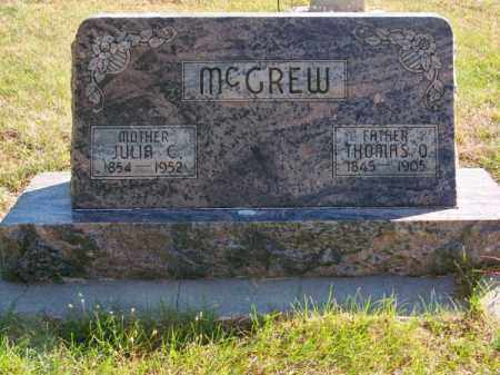 MC GREW, THOMAS O. - Brown County, Nebraska | THOMAS O. MC GREW - Nebraska Gravestone Photos
