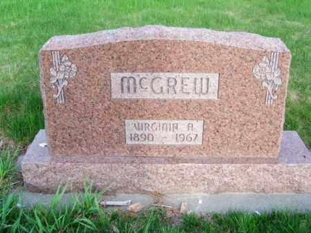 MC GREW, VIRGINIA A. - Brown County, Nebraska | VIRGINIA A. MC GREW - Nebraska Gravestone Photos