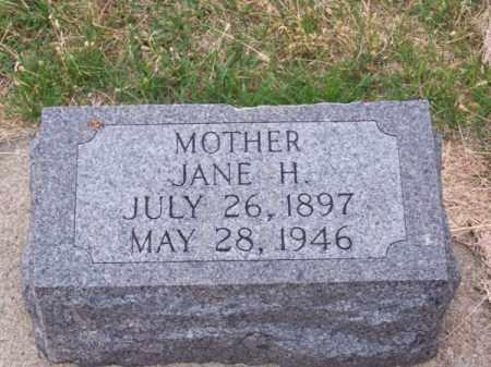 MC MURTRY, JANE H. - Brown County, Nebraska   JANE H. MC MURTRY - Nebraska Gravestone Photos