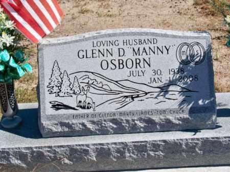 OSBORN, GLENN D. (MANNY) - Brown County, Nebraska | GLENN D. (MANNY) OSBORN - Nebraska Gravestone Photos