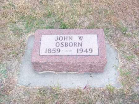 OSBORN, JOHN W. - Brown County, Nebraska | JOHN W. OSBORN - Nebraska Gravestone Photos