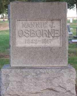 OSBORNE, NANNIE J. - Brown County, Nebraska | NANNIE J. OSBORNE - Nebraska Gravestone Photos