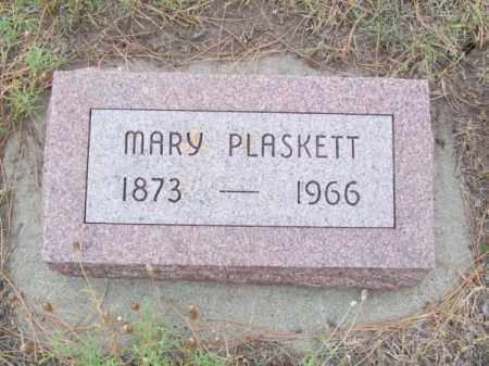 PLASKETT, MARY - Brown County, Nebraska   MARY PLASKETT - Nebraska Gravestone Photos