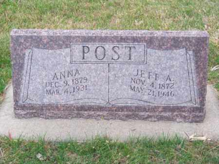 POST, ANNA - Brown County, Nebraska | ANNA POST - Nebraska Gravestone Photos