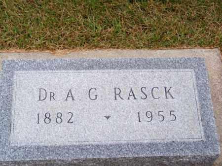 RASCK, DR. A. G. - Brown County, Nebraska | DR. A. G. RASCK - Nebraska Gravestone Photos