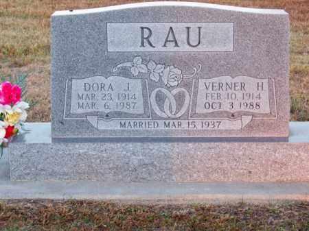RAU, VERNER H. - Brown County, Nebraska | VERNER H. RAU - Nebraska Gravestone Photos