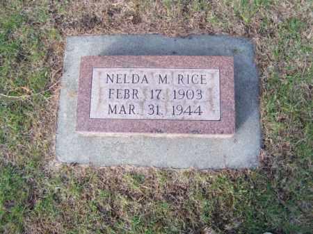 RICE, NELDA M. - Brown County, Nebraska | NELDA M. RICE - Nebraska Gravestone Photos