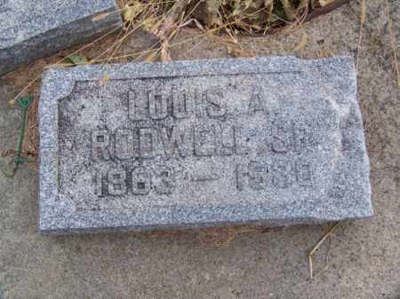 RODWELL, SR., LOUIS A. - Brown County, Nebraska | LOUIS A. RODWELL, SR. - Nebraska Gravestone Photos