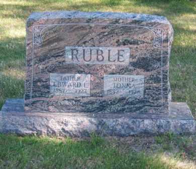 RUBLE, EDWARD L. - Brown County, Nebraska | EDWARD L. RUBLE - Nebraska Gravestone Photos