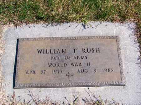 RUSH, WILLIAM T. - Brown County, Nebraska   WILLIAM T. RUSH - Nebraska Gravestone Photos