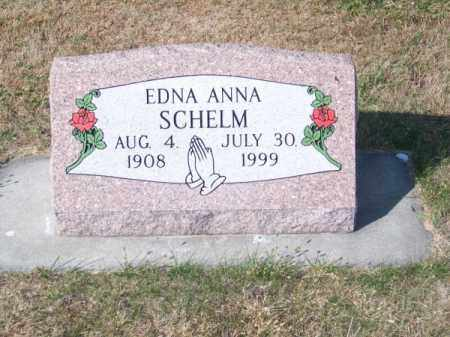SCHELM, EDNA ANNA - Brown County, Nebraska | EDNA ANNA SCHELM - Nebraska Gravestone Photos