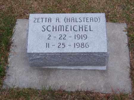 HALSTEAD SCHMEICHEL, ZETTA A. - Brown County, Nebraska | ZETTA A. HALSTEAD SCHMEICHEL - Nebraska Gravestone Photos