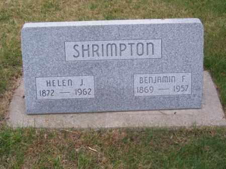 SHRIMPTON, BENJAMIN F. - Brown County, Nebraska   BENJAMIN F. SHRIMPTON - Nebraska Gravestone Photos