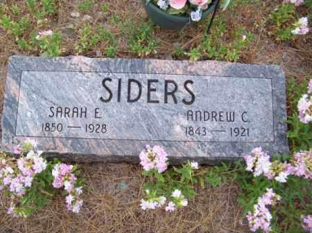 SIDERS, ANDREW C. - Brown County, Nebraska | ANDREW C. SIDERS - Nebraska Gravestone Photos
