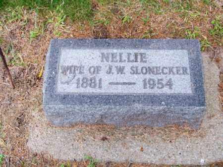 SLONECKER, NELLIE - Brown County, Nebraska | NELLIE SLONECKER - Nebraska Gravestone Photos