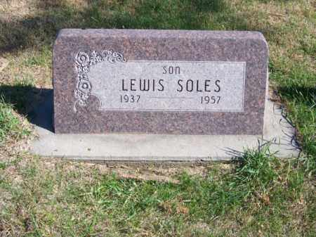 SOLES, LEWIS - Brown County, Nebraska | LEWIS SOLES - Nebraska Gravestone Photos