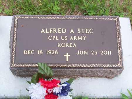 STEC, ALFRED A. - Brown County, Nebraska | ALFRED A. STEC - Nebraska Gravestone Photos