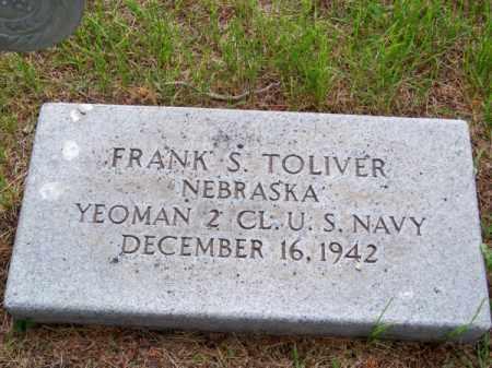 TOLIVER, FRANK S. - Brown County, Nebraska | FRANK S. TOLIVER - Nebraska Gravestone Photos