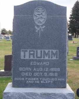 TRUMM, EDWARD - Brown County, Nebraska | EDWARD TRUMM - Nebraska Gravestone Photos