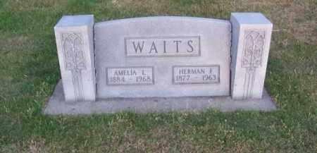 WAITS, HERMAN F. - Brown County, Nebraska | HERMAN F. WAITS - Nebraska Gravestone Photos