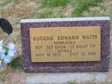 WAITS, EUGENE EDWARD - Brown County, Nebraska | EUGENE EDWARD WAITS - Nebraska Gravestone Photos