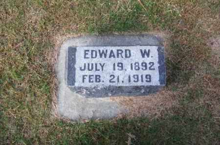 WAITS, EDWARD W. - Brown County, Nebraska | EDWARD W. WAITS - Nebraska Gravestone Photos