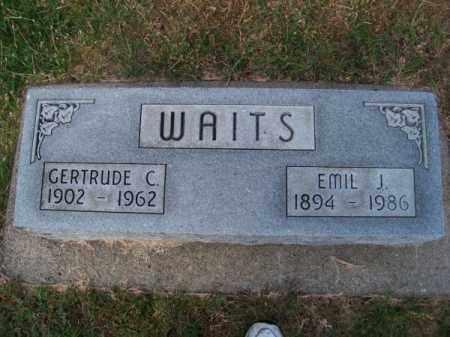 WAITS, GERTRUDE C. - Brown County, Nebraska | GERTRUDE C. WAITS - Nebraska Gravestone Photos