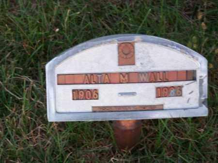 WALL, ALTA M. - Brown County, Nebraska   ALTA M. WALL - Nebraska Gravestone Photos