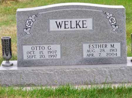 WELKE, ESTHER M. - Brown County, Nebraska   ESTHER M. WELKE - Nebraska Gravestone Photos