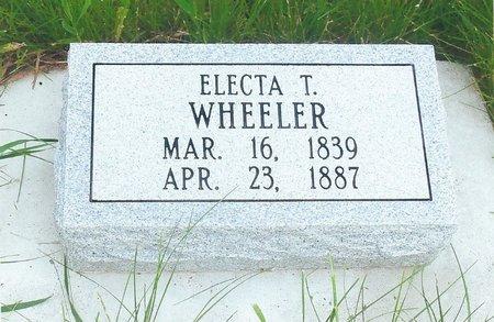 WHEELER, ELECTA T. - Brown County, Nebraska | ELECTA T. WHEELER - Nebraska Gravestone Photos