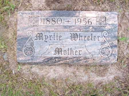WHEELER, MYRTLE - Brown County, Nebraska | MYRTLE WHEELER - Nebraska Gravestone Photos