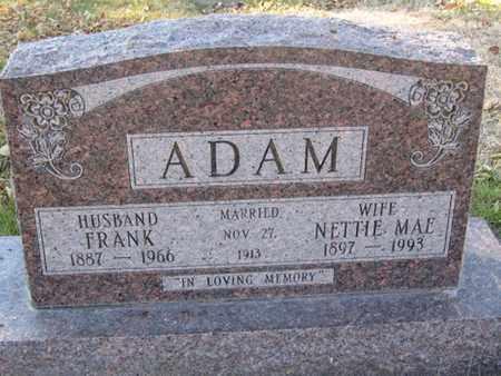 ADAM, NETTIE - Buffalo County, Nebraska | NETTIE ADAM - Nebraska Gravestone Photos