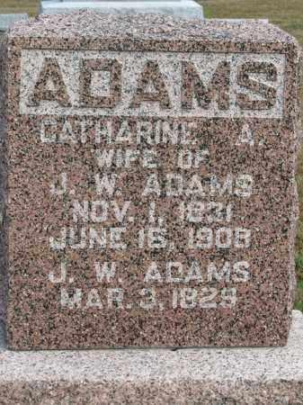 ADAMS, CATHARINE A. - Buffalo County, Nebraska   CATHARINE A. ADAMS - Nebraska Gravestone Photos