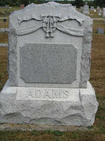 ADAMS, JOHN R. - Buffalo County, Nebraska | JOHN R. ADAMS - Nebraska Gravestone Photos