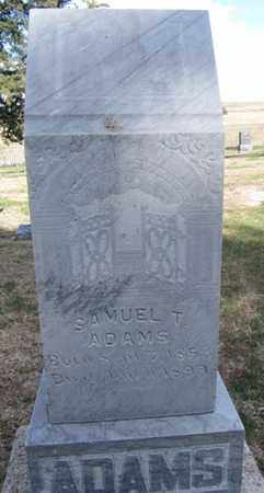 ADAMS, SAMUEL - Buffalo County, Nebraska   SAMUEL ADAMS - Nebraska Gravestone Photos