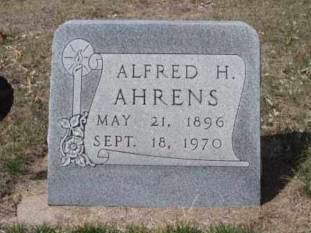 AHRENS, ALFRED - Buffalo County, Nebraska | ALFRED AHRENS - Nebraska Gravestone Photos