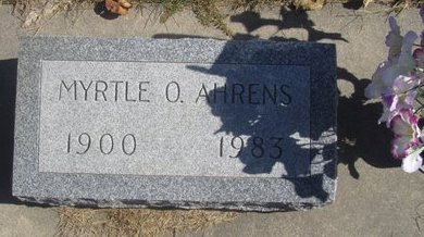 AHRENS, MYRTLE O. - Buffalo County, Nebraska   MYRTLE O. AHRENS - Nebraska Gravestone Photos