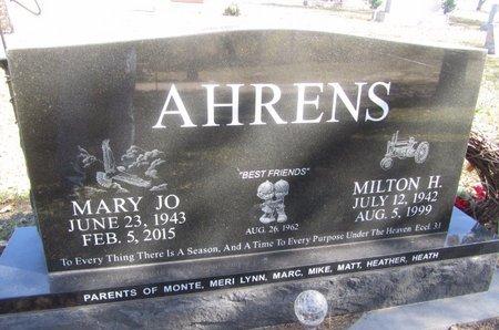 AHRENS, MARY JO - Buffalo County, Nebraska | MARY JO AHRENS - Nebraska Gravestone Photos