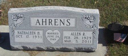 AHRENS, ALLEN R. - Buffalo County, Nebraska | ALLEN R. AHRENS - Nebraska Gravestone Photos